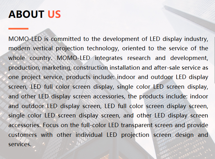 MOMO-LED:LED Electronic Display Screen